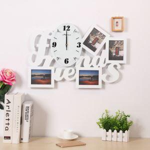 Horloge murale avec cadre de photo Friends créatif pour chambre salle 2 modèles style moderne simple