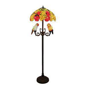 Lampadaire à 5 lampes perroquet H 165 cm délicate luminaire pour salon cuisine chambre