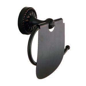 Porte papier noir en cuivre pour salle de bain style rétro élégant