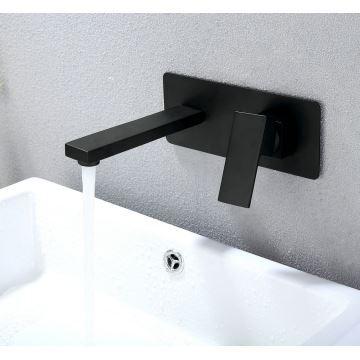 Robinet de baignoire noir en cuivre pour salle de bain