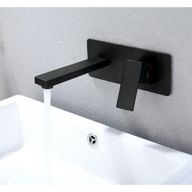 robinet de baignoire en cuivre noir l22cm pour salle de bain. Black Bedroom Furniture Sets. Home Design Ideas