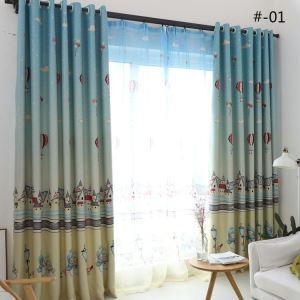 Rideau en polyester imprimé maison & bonhomme de neige 2 couleurs simple