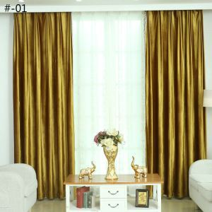 Rideau en polyester velours italien 2 couleurs simple