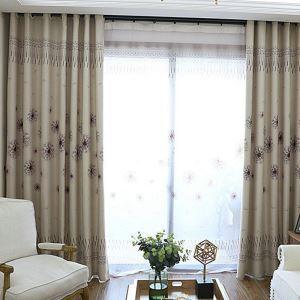 Rideau en polyester imprimé taraxacum simple