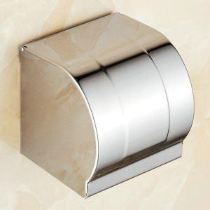 Boîte de papier en acier inoxydable 304 chromé pour salle de bain