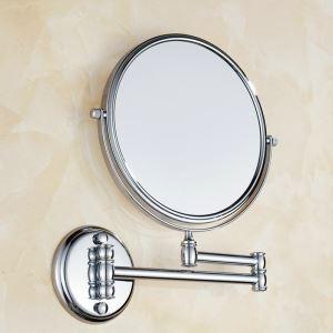 Miroir de courtoisie en cuivre chromé pouvoir s'allonger se raccourcir plier pour salle de bain