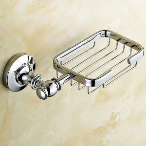 Porte de avons en cuivre chromé pour salle de bain