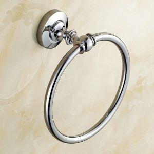 Anneau de serviette en cuivre chromé pour salle de bain