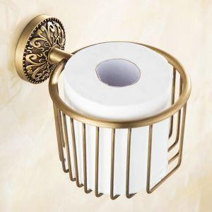 Porte de papier toilettes en cuivre étirage pour salle de bain rétro