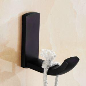 Crochet à vêtement en cuivre noire unique ORB pour salle de bain antique