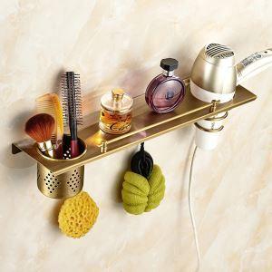 Étagère de salle de bain en cuivre étirage rétro