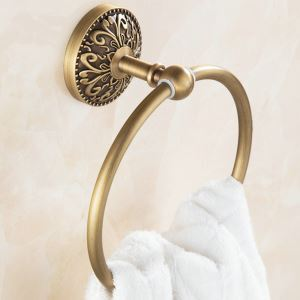 Anneau de serviette en cuivre étirage pour salle de bain rétro