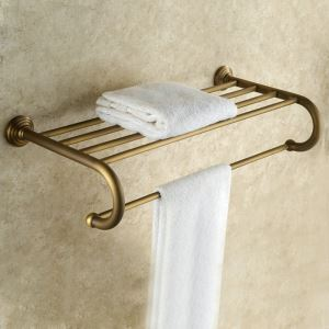 Porte de serviette en cuivre étirage pour salle de bain rétro