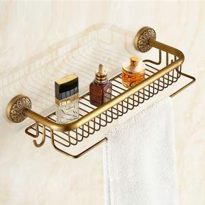Étagère de salle de bain en cuivre 51cm étirage rétro