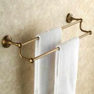 Barre de serviette en cuivre 2 barres étirage pour salle de bain rétro