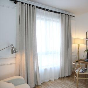Rideau en coton lin écologique couleur pure respirant simple