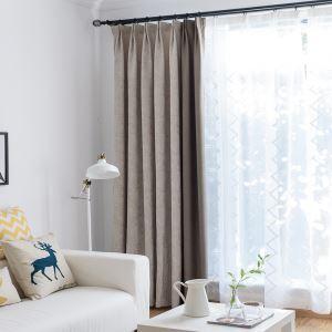 Rideau occulant en coton plume abstraite pour salon moderne