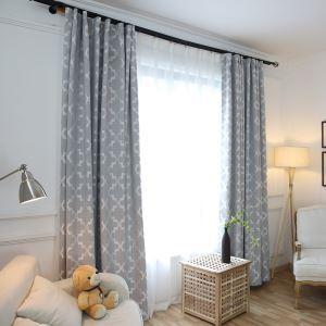 Rideau occulant en lin ombrage impression spécials grand carreau simple moderne