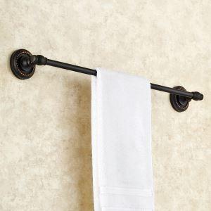 Barre de serviette en cuivre noire unique ORB pour salle de bain antique
