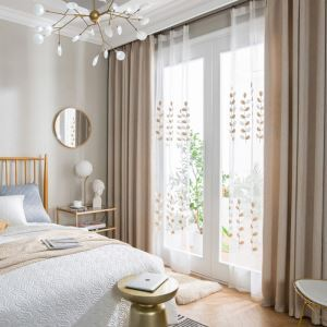 Rideau en lin écologique couleur pure ombrage simple moderne