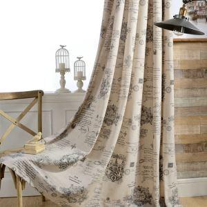 Rideau en coton imprimé fleur écologique simple moderne