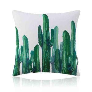Housse de coussin imprimée en coton 45 x 45 cm pour canapé sofa