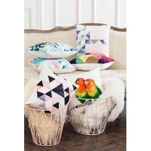 Housse de coussin en coton 45 x 45 cm pour canapé sofa