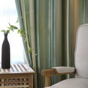 Rideau gradient de couleur jacquard ombrage pour salon chambre à coucher simple américain