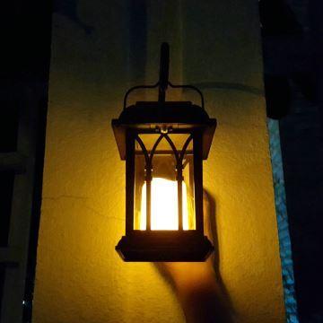Lumière bougie d énergie solaire en PP+PC H30cm noir pour cour extérieur 273123ac7c9d