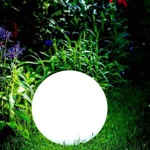 Lumière de cour d'énergie solaire flottant en IPDE D40cm bulle blanc pour extérieur