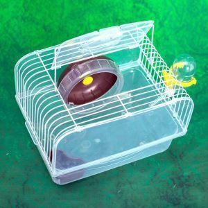 Cage de hamster bleu café transparent