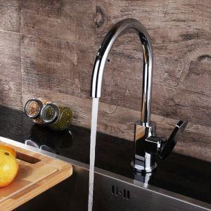 Robinet de cuisine en cuivre chrome eau froide H36cm