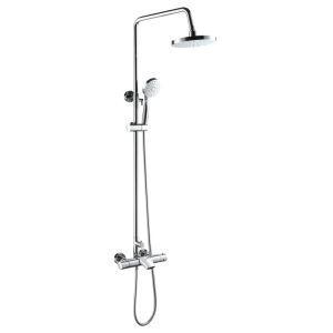 Robinet de douche en cuivre chrome pour salle de bain