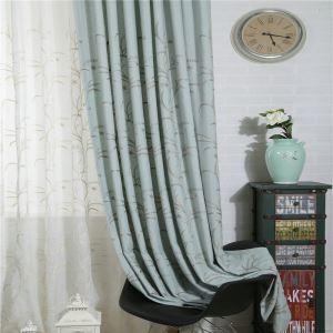 Rideau occultant en coton lin bleu écologique pour chambre à coucher salon simple japonais