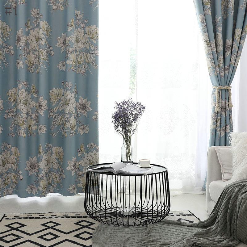 rideau occultant imprim pour chambre coucher chambre d 39 enfant pastoral moderne. Black Bedroom Furniture Sets. Home Design Ideas