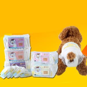 Couche-culotte d'animaux de compagniede chienne 10 par sac