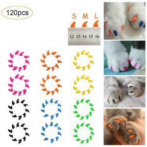 Gaine des ongles d'animaux de compagnie pour les griffes du chat 20 par un sac avec colle