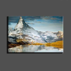 Tableau sans cadre montagne couverte de neige 30*45cm