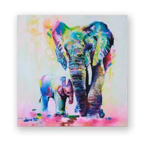 Tableau sans cadre éléphant 3 modèles