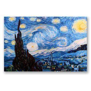 Tableau sans cadre ciel étoilé 30*45cm