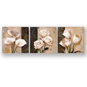 Tableau sans cadre fleur 30*30cm