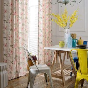 Rideau tamisant imprimé petite fleur pour chambre à coucher simple moderne