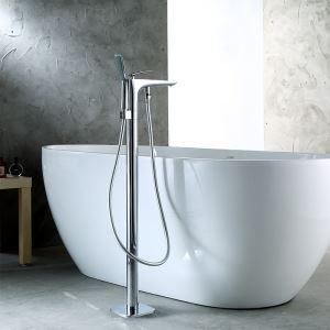 Robinet de baignoire avec douchette cuivre  H91cm mitigeur chromé pour salle de bains