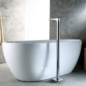 Robinet de baignoire cuivre H101.2cm mitigeur chromé pour salle de bains