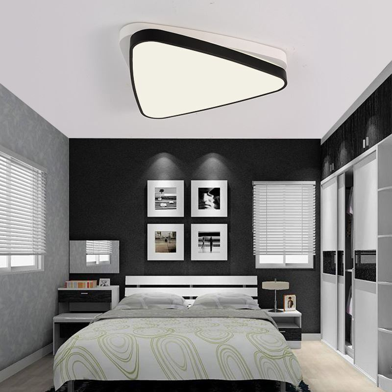 plafonnier led a en acrylique l 48 cm pour salle chambre couloir. Black Bedroom Furniture Sets. Home Design Ideas