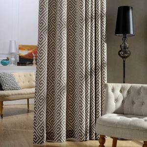 Rideau tamisant imprimé labyrinthe pour chambre à coucher simple