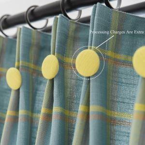 Rideau occultant jacquard en coton lin écologique pour chambre à coucher vert foncé rétro américain