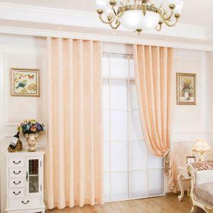 Rideau occultant en chenille beige pour chambre à coucher anti-UV simple japonais