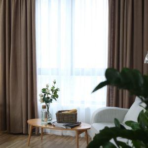 Rideau occultant en coton lin café pour chambre à couche simple américain