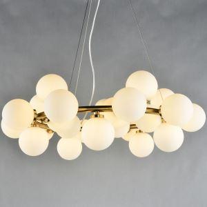 Suspension à 25 lampes bulles L 76 cm pour salon élégant